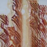 Holzdruck auf Echt Bütten 78x106cm