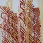 Holzdruck auf Echt-Bütten 78x106cm