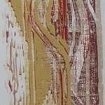 Holzdruck auf Echt-Bütten 26x106cm